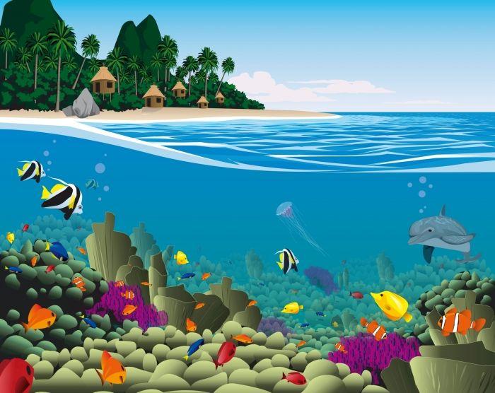 Kinderzimmer Unterwasserwelt Fototapete kinderzimmer