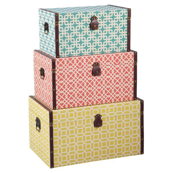 Geometric-Print Storage Trunks. | Interesting Things | Pinterest ...