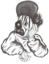 Sad Gangster Clown Drawings