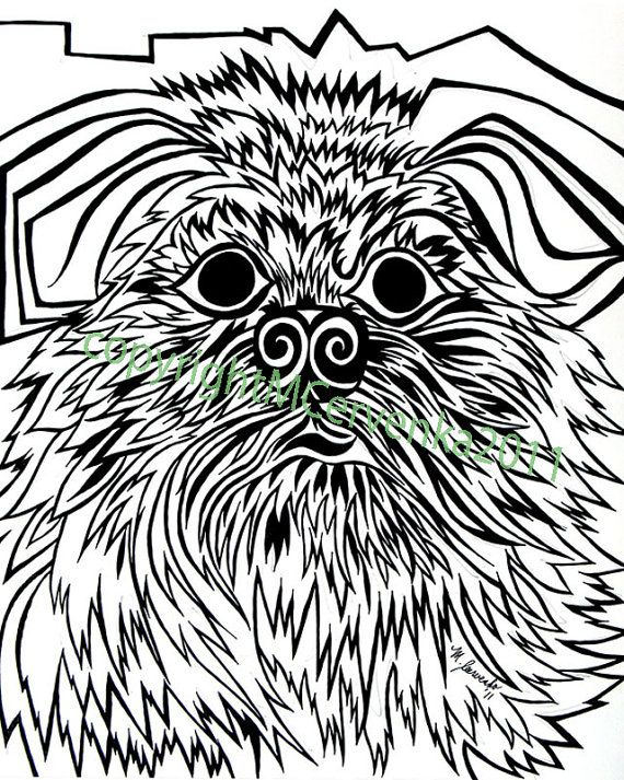 Brussels Griffon by Matt Cervenka Art. Brussels Griffon dog art portraits, photographs, information and just plain fun. Also see how artist Kline draws his dog art from only words at drawDOGS.com http://drawdogs.com/product/dog-art/brussels-griffon-dog-portrait-by-stephen-kline/