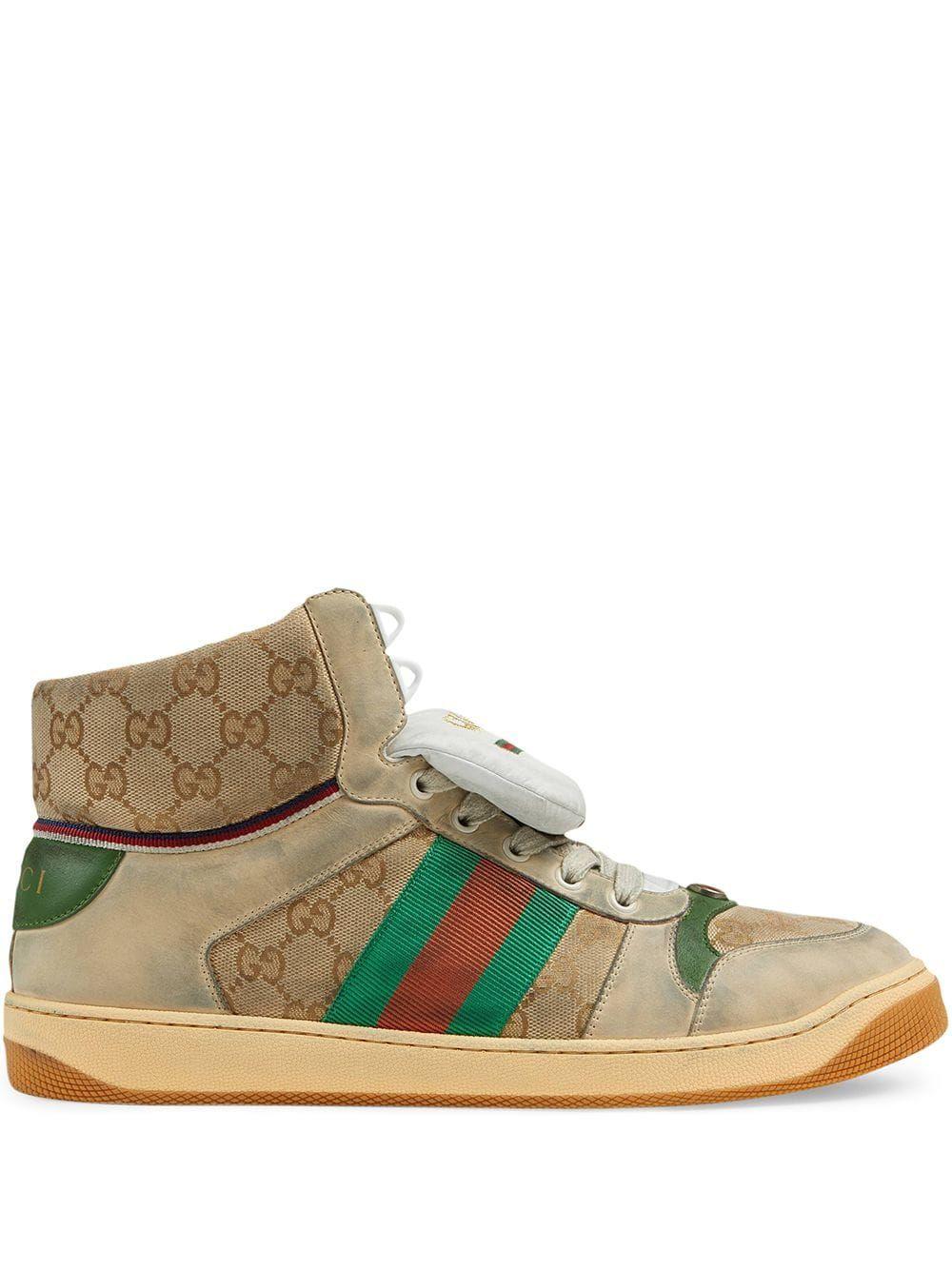 0830104f6d9 GUCCI GUCCI MEN S SCREENER GG HIGH-TOP SNEAKER - WHITE.  gucci  shoes