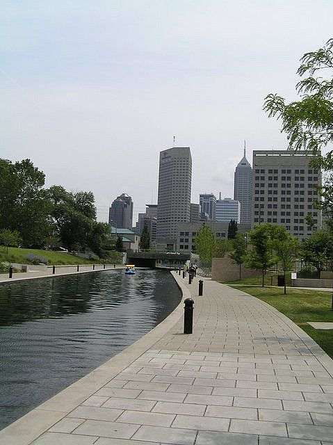 Indianapolis White River Canal ! Rode rented bikes here and laughed til we cried with my kids !