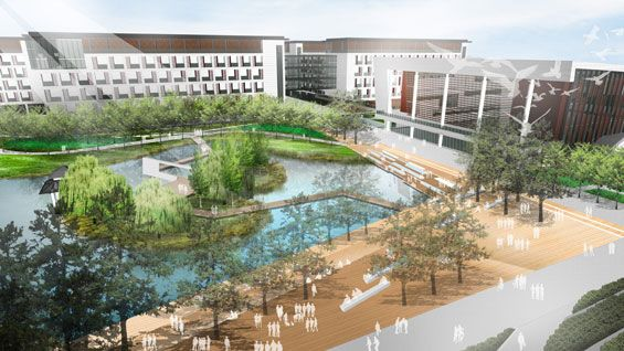 kunshan west high school master plan | kunshan china | integrated