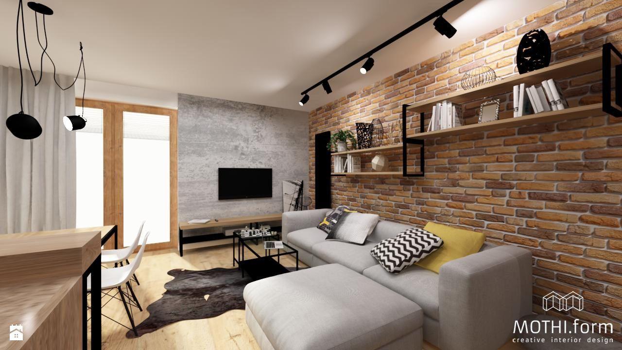 Wystroj Wnetrz Salon Styl Industrialny Projekty I Aranzacje Najlepszych Designerow Prawdziwe Inspiracje Dla Kazdego Dla K Interior Design Home Home Deco