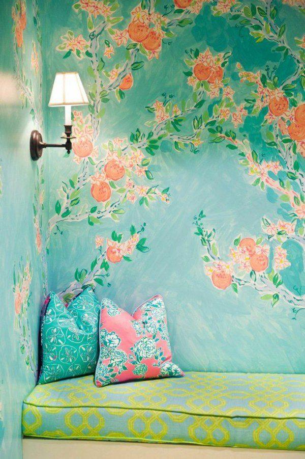 Wände Streichen Wohnideen Für Erstaunliche Wanddekoration Frische Farben