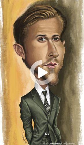 Ryan Gosling By jaime ortega   Famous People Cartoon