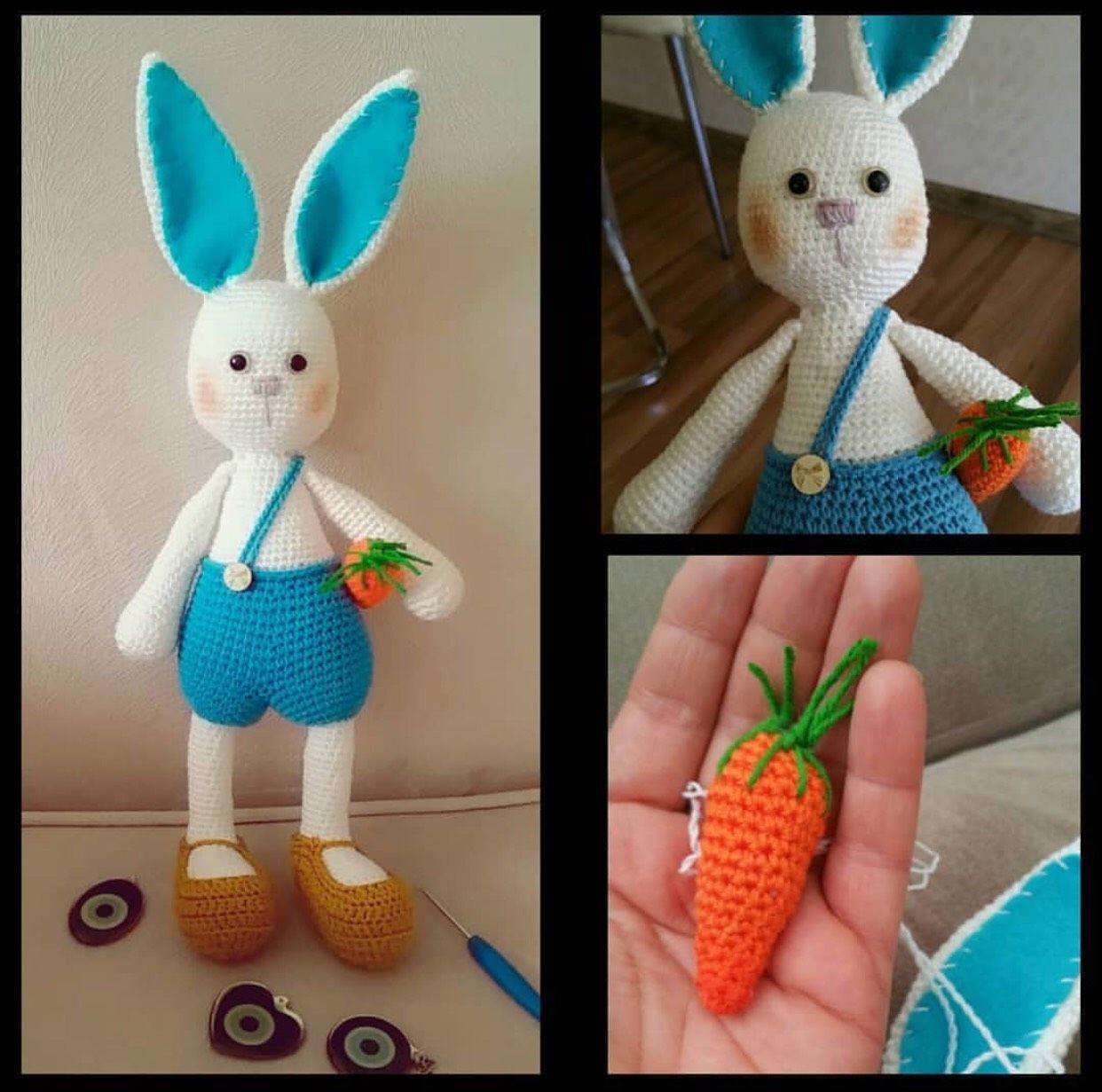 Amigurumi uzun kulak tavşan yapımı | Amigurumi modelleri, Desenler ... | 1231x1242