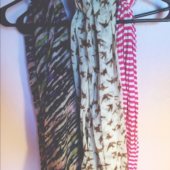 Scarves All 3 of these scarves come together unless you specifically want just 1 or 2 of them :) Accessories Scarves & Wraps