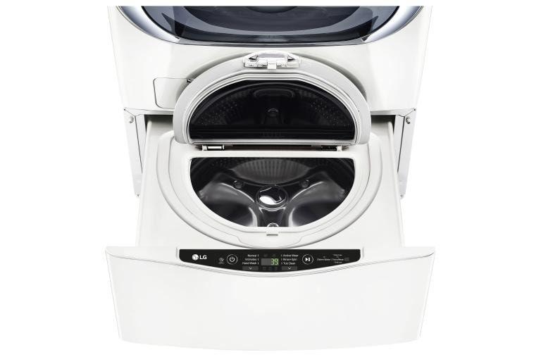 1 0 Cu Ft Lg Sidekick Pedestal Washer Lg Twinwash Compatible In 2020 Lg Electronics Laundry Laundry Pedestal