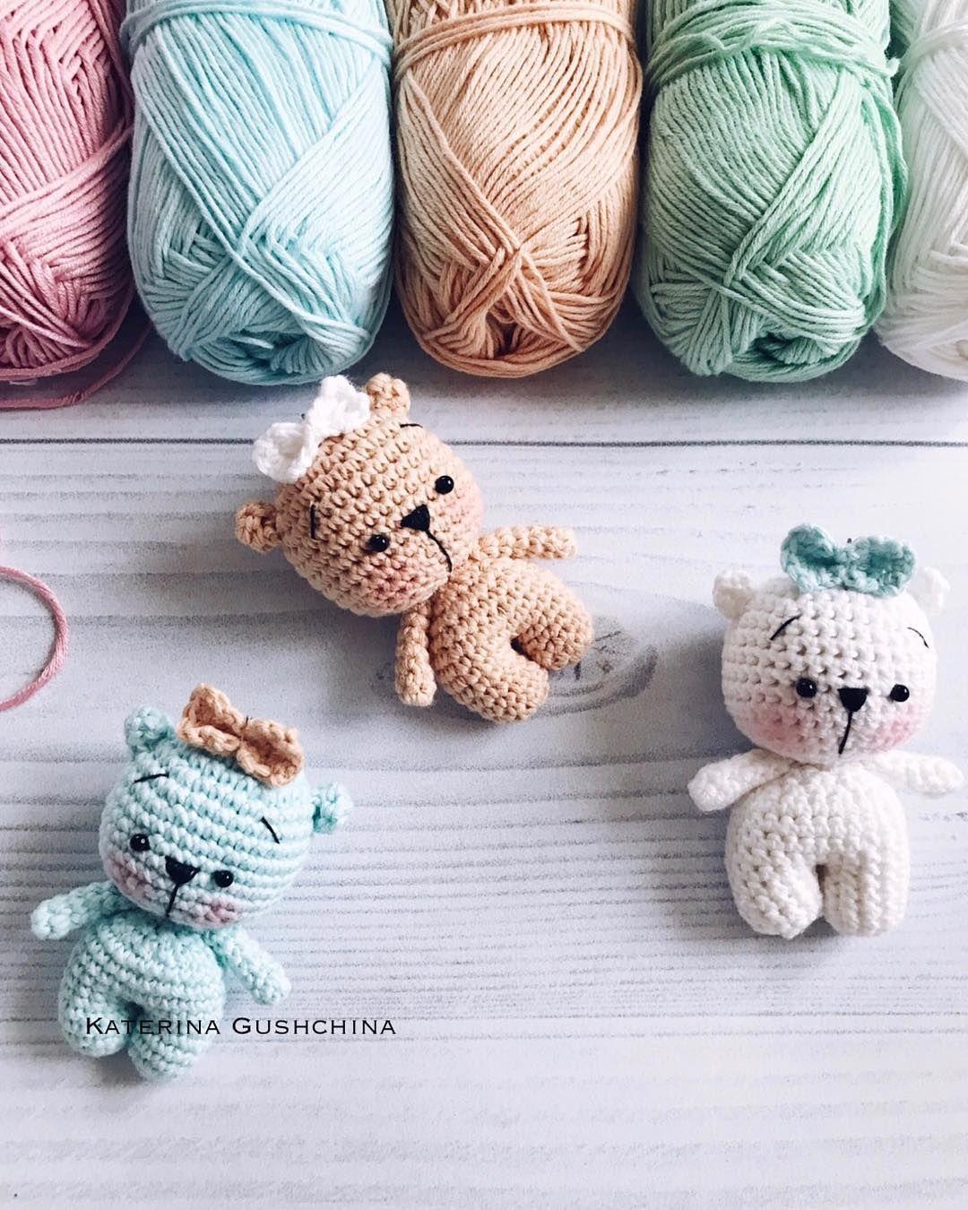 Tiny teddy bear crochet pattern #crochetanimals
