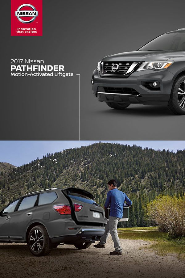 Hands Full With The Nissan Intelligent Key In Your Pocket Just Kick Your Foot Under The Rear Bumper And The Motion Activa Nissan Pathfinder Nissan Pathfinder