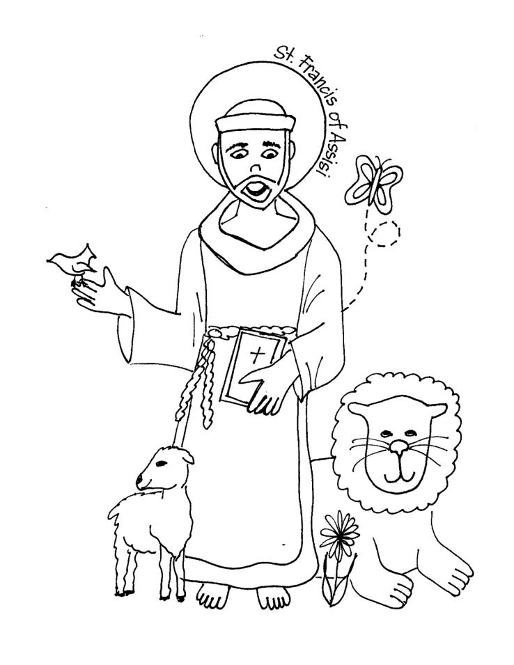 Saints Coloring Pages - Printable Catholic Saints | crafts ...