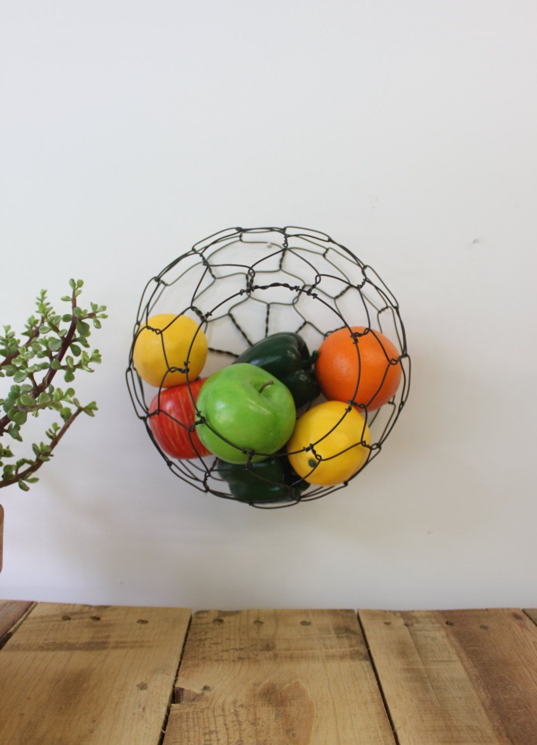 Wire Wall Hanging Baskets wall hanging half round wire basket | wire basket, rounding and walls