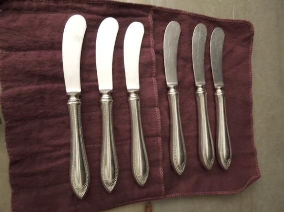Flatware Old French Hollow Knives Vintage