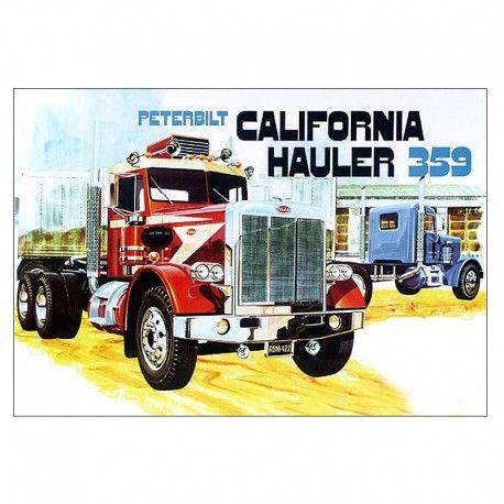 Peterbilt 359 California Hauler Truck Model Kit Peterbilt