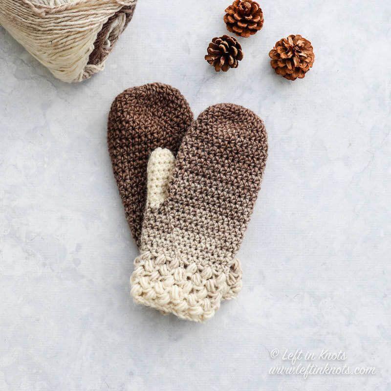 Crochet Coffee Bean Mittens