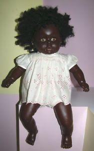 Black Dolls Vintage Vintage Large Black Doll Cloth Hard Plastic 24 Ebay Black Doll Black Dolls Vintage Doll Clothes