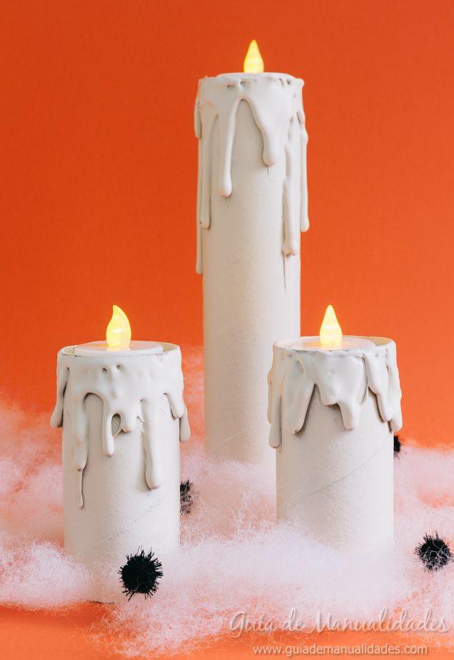 Velas De Halloween Con Tubos De Carton Christmas Pinterest