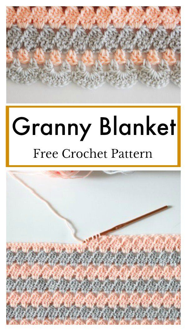 Modern Granny Blanket Free Crochet Pattern | Ganchillo y Puntos