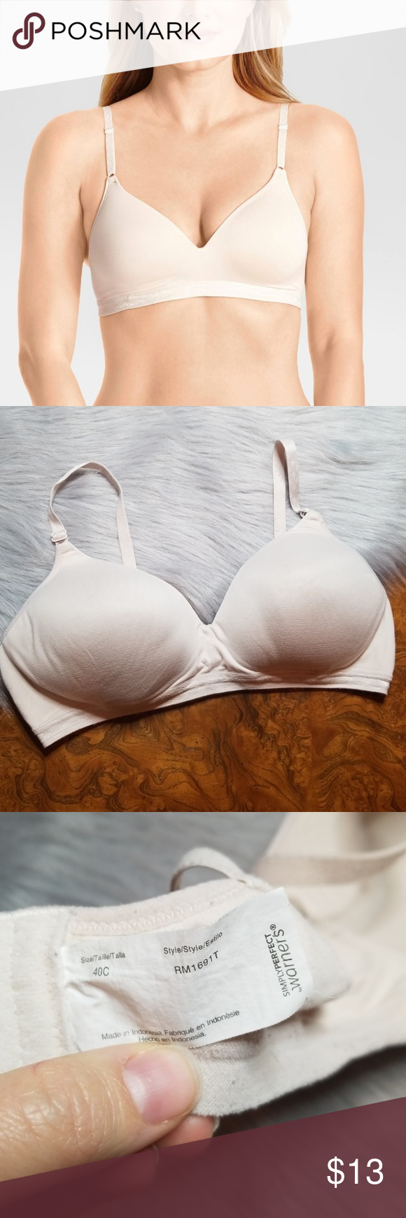 0b0d97abb6 Warner s Simply Perfect Super Soft Wire-Free Bra ➕ Good used condition  Simply  Perfect