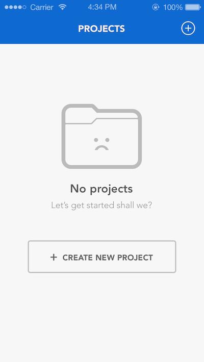 The blank page design | UI Design | Mobile ui design, Ui forms, Ui