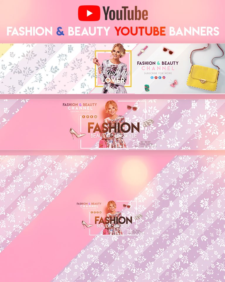 Fashion Beauty Youtube Banners Youtube Banners Youtube Banner Backgrounds Banner