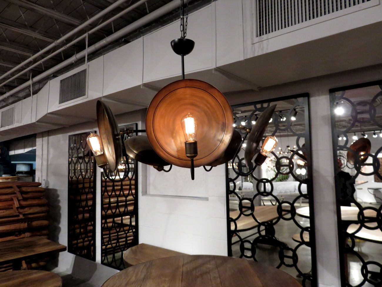 Industrial iron chandelier if you need more plates for dinner industrial iron chandelier if you need more plates for dinner just grab one from this arubaitofo Image collections