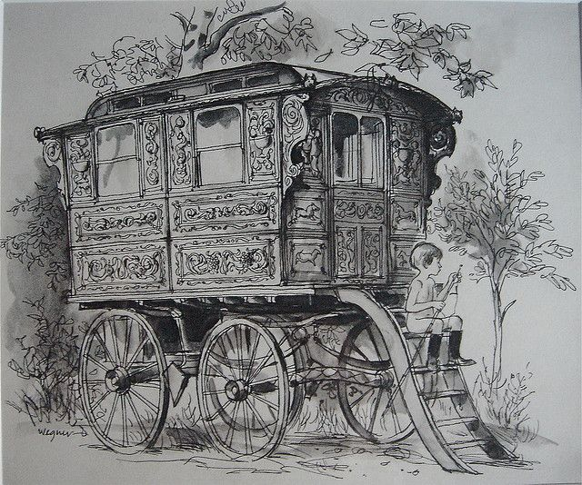 Showman S Wagon Art Pencil Drawings Pinterest Dessin