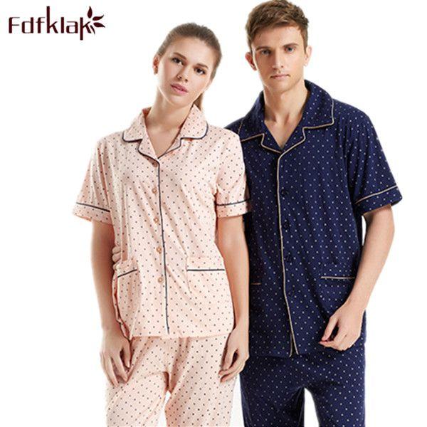 a392712136 Couple Pajamas Set 100% Cotton Pajamas Pyjamas Spring And Autumn Men And women  Sleepwear Lover
