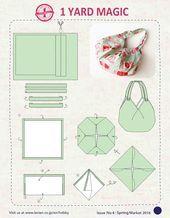 Photo of 1 Yard Magic Hobo Bag Schnittmuster von Lecien Fabrics! – SewCanShe | Kostenlose S …