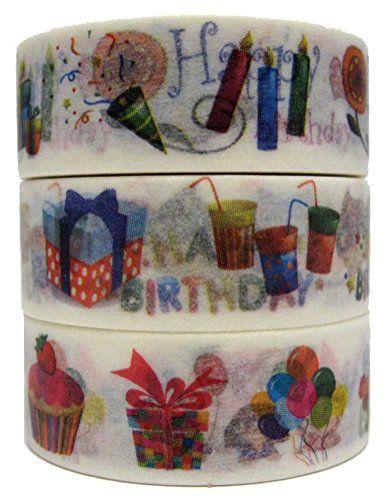 MIKOKA Japanese Masking Washi Tape, 10 m, Set of 3, Happy Birthday MIKOKA http://www.amazon.com/dp/B00S46WNNY/ref=cm_sw_r_pi_dp_dgK7ub0ADM381