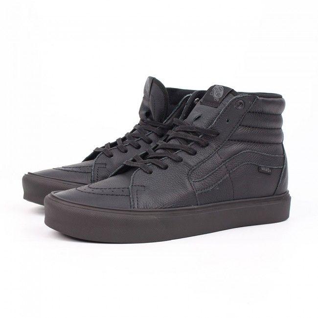 vans sk8 hi lite black leather