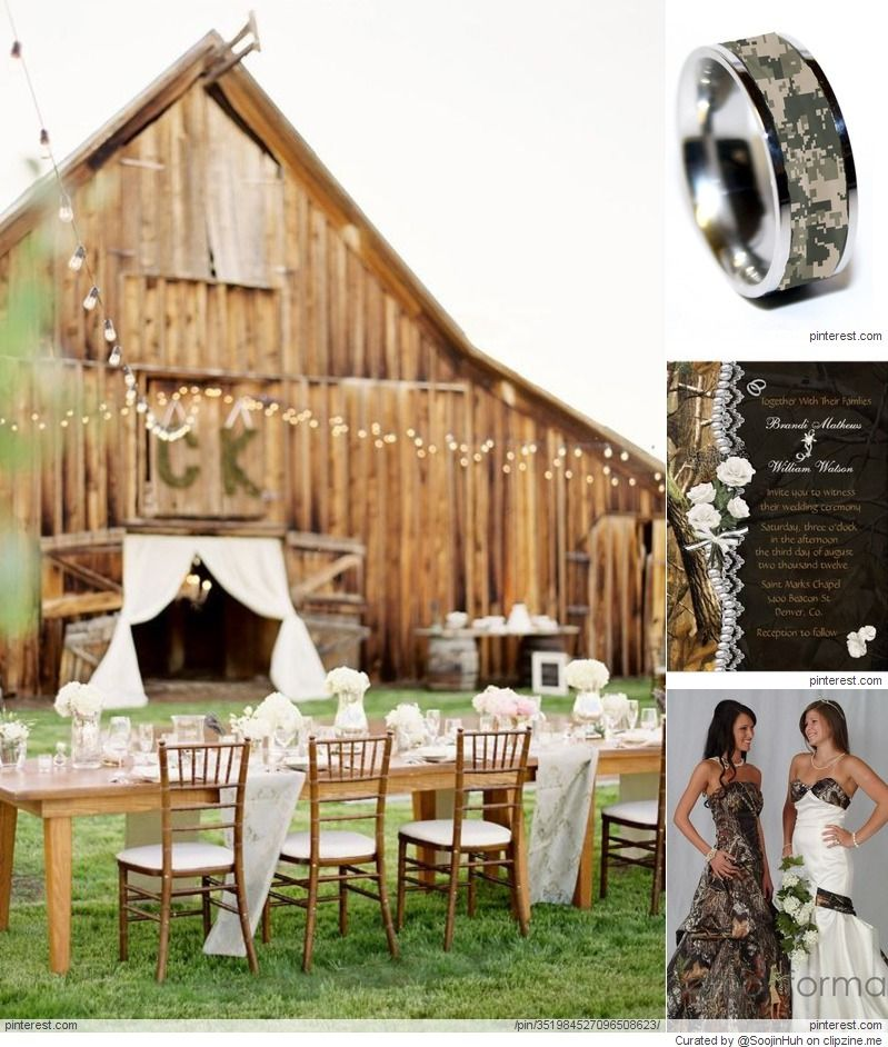 Camo Wedding Reception Ideas: Hunting To Camouflage