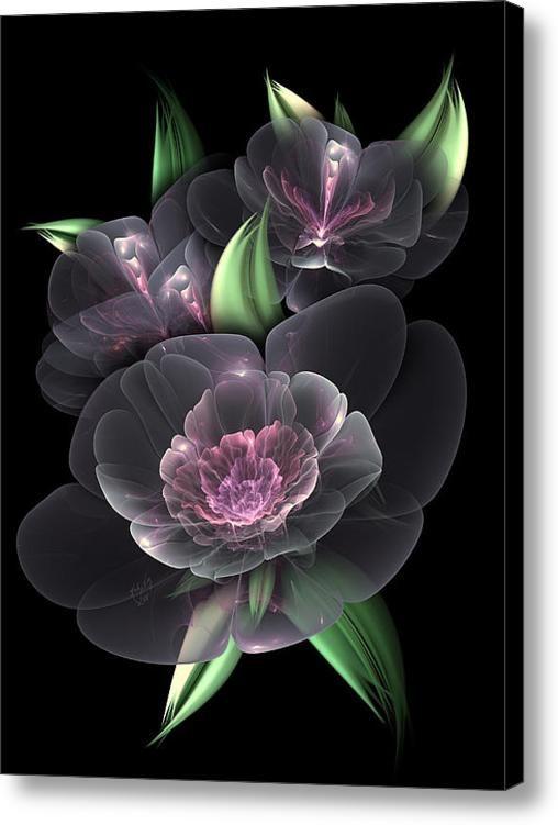 Cristal Bouquet Toile Imprimer / Toile par Karla Blanc