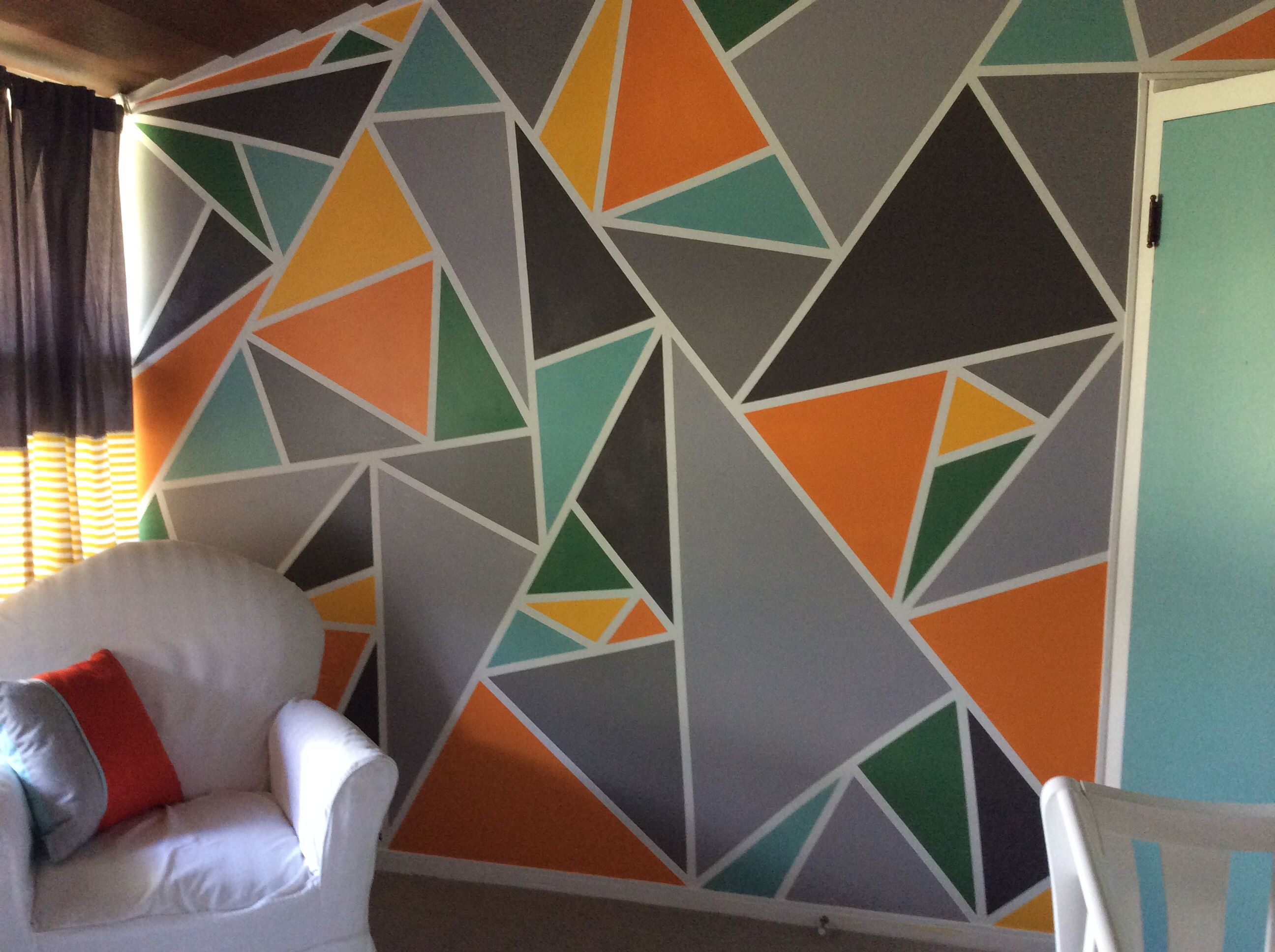 used 7 colors | creative wall painting, wall design