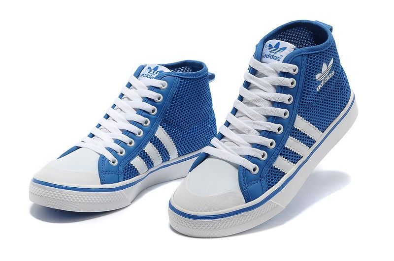adidas originals nizza hi high top womens trainers blue. Black Bedroom Furniture Sets. Home Design Ideas