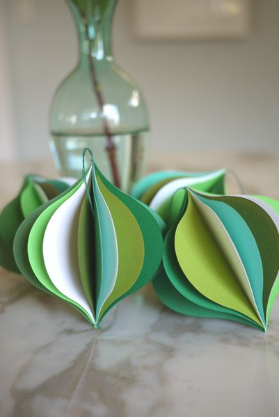 Pretty Paper Ornaments For Your Tree Paper Christmas Ornaments