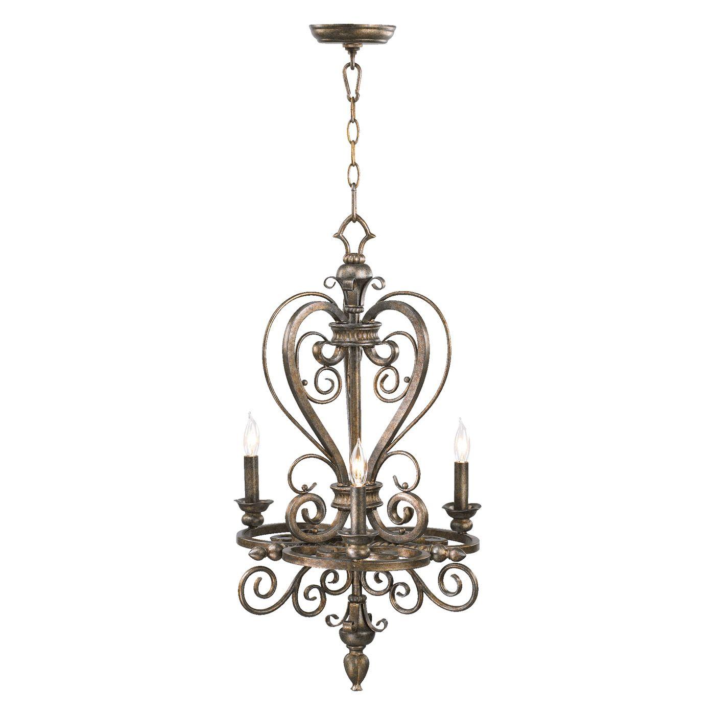 Quorum international light virage mini chandelier