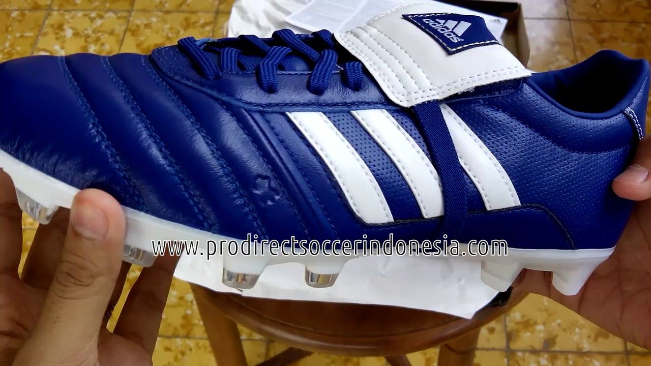 Sepatu Bola Adidas Gloro Fg Royal White Gold S76672 Original