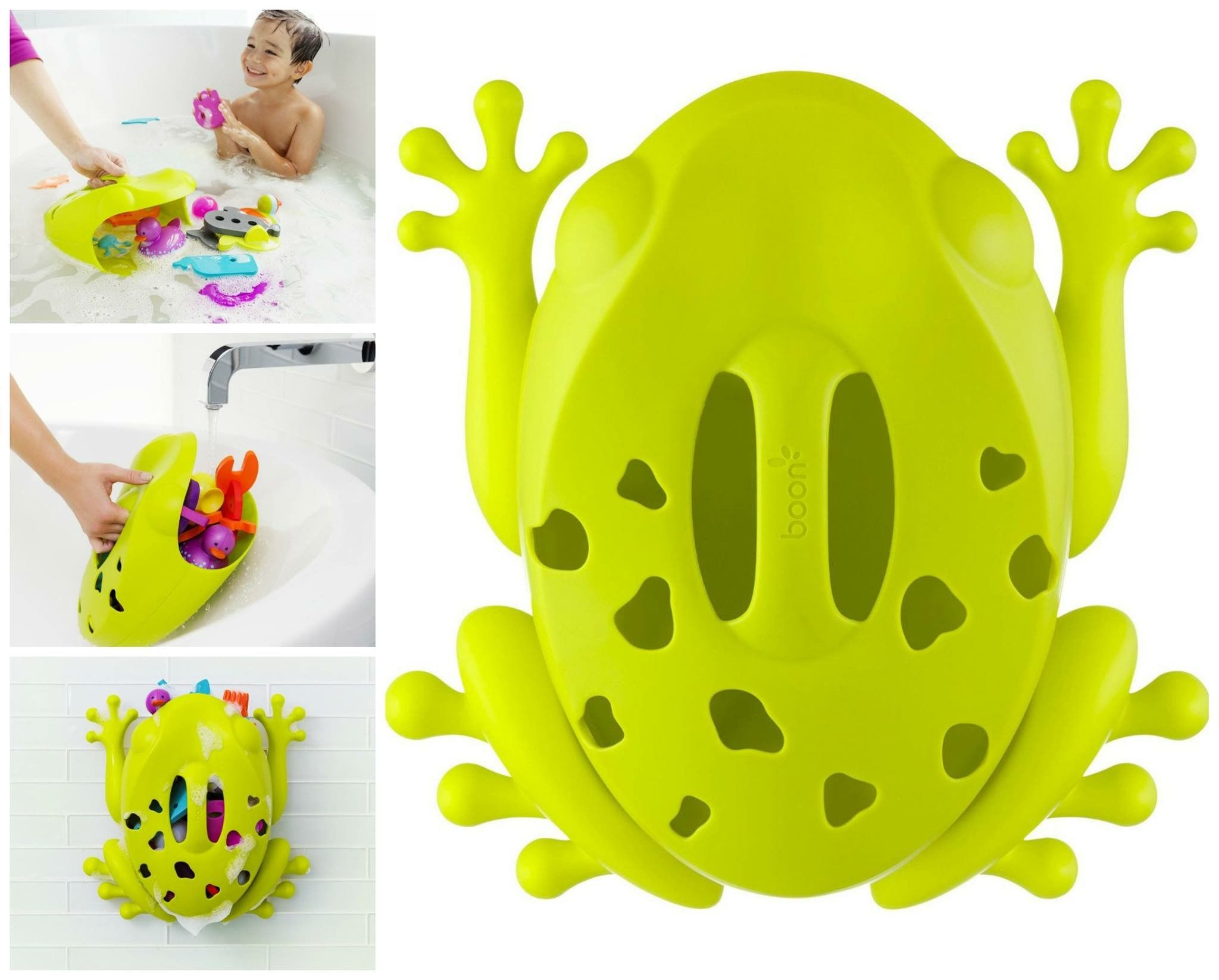 Stores And Organizes Bath Toys For Kids Fun Easy Green Frog Pod Bath Toy Scoop