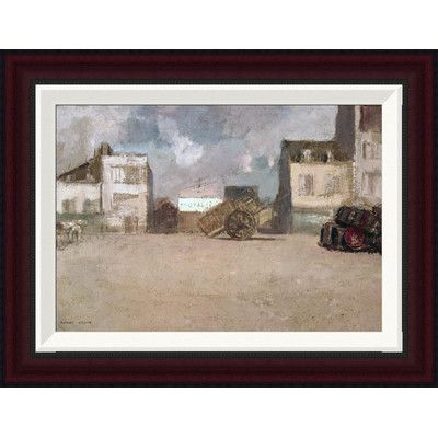 "Global Gallery Street Scene by Odilon Redon Framed Painting Print Size: 15.1"" H x 20"" W"