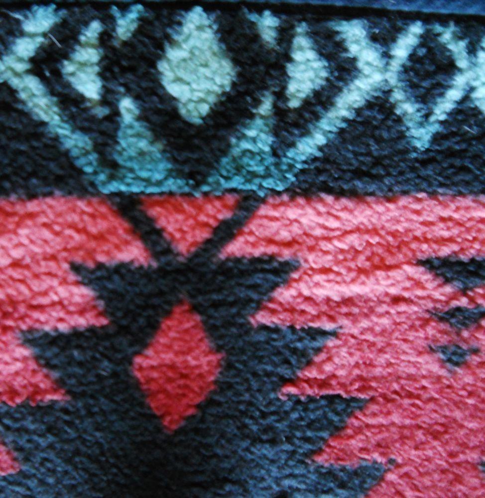 Vtg biederlack throw blanket native tribal southwest aztec x