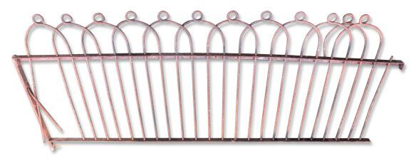 Large Lot Antique Wrought Iron Hoop Loop Fence Iron Railing