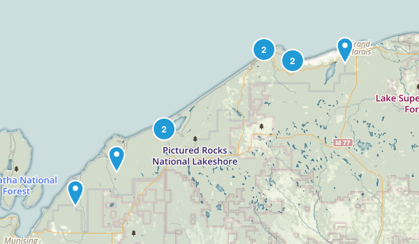 Picture Rocks Michigan Map.Pictured Rocks National Lakeshore Map My Home State Pictured