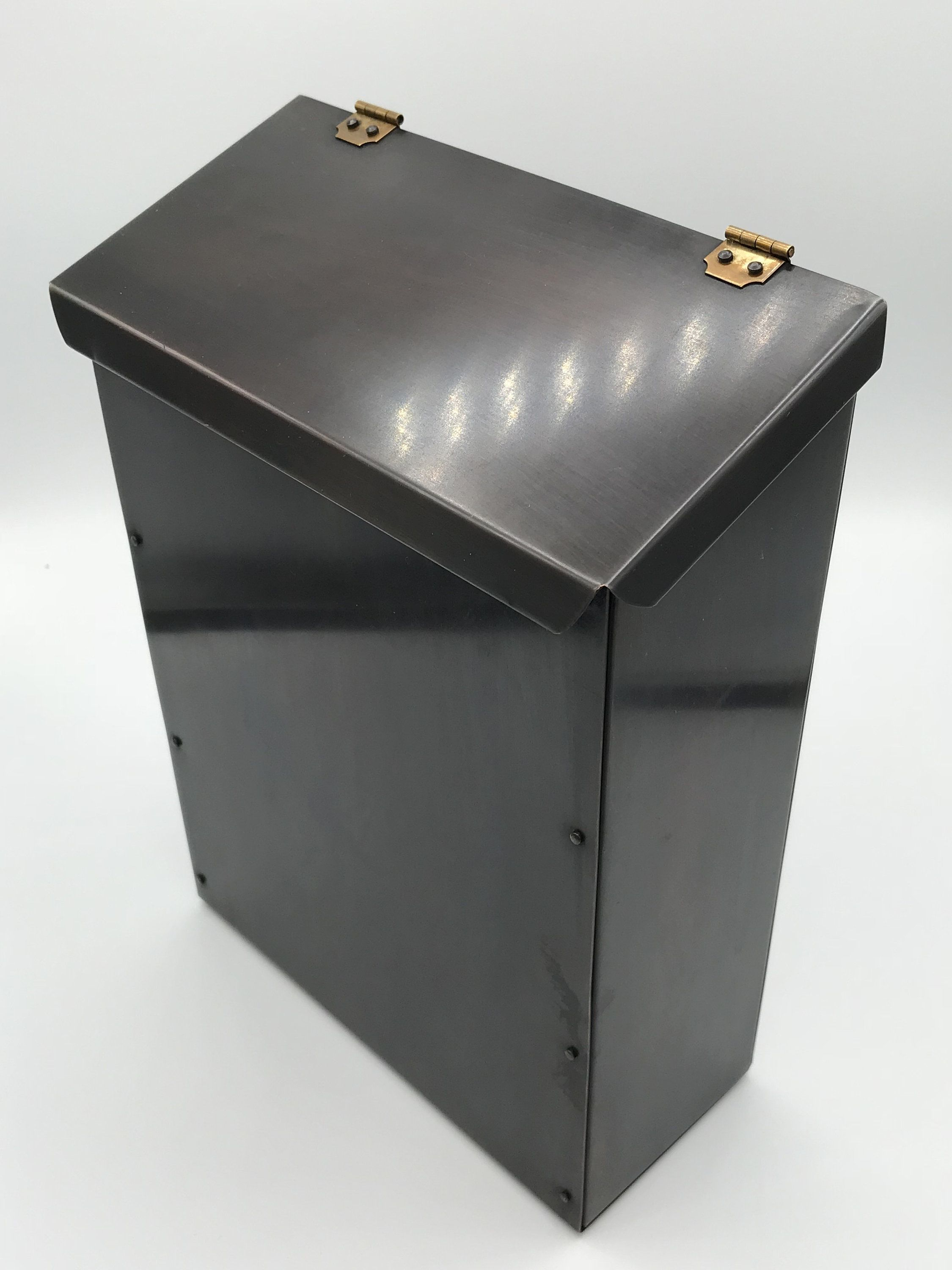Wall Mount Mailbox Copper Mailbox Wall Mount Outdoor Metal Mailbox For House Copper Mail Box Mailbox For Wall 7th Anniversary Gift Metal Mailbox Mounted Mailbox 7th Anniversary Gifts