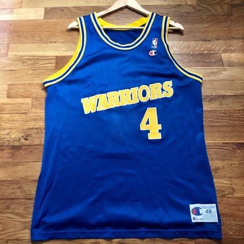 aa1e82e56 Chris Webber Golden State Warriors Champion Jersey Size 48   XL ...