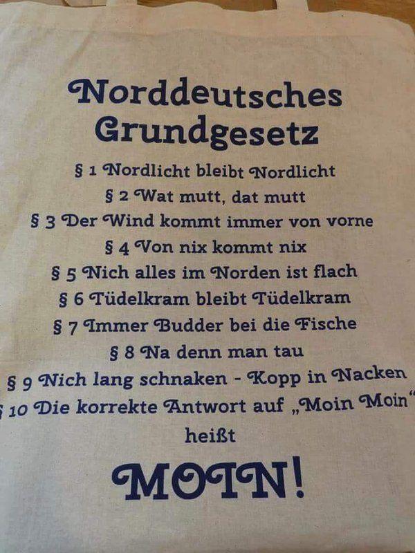 Norddeutsches Grundgesetz Norddeutschland Sprüche