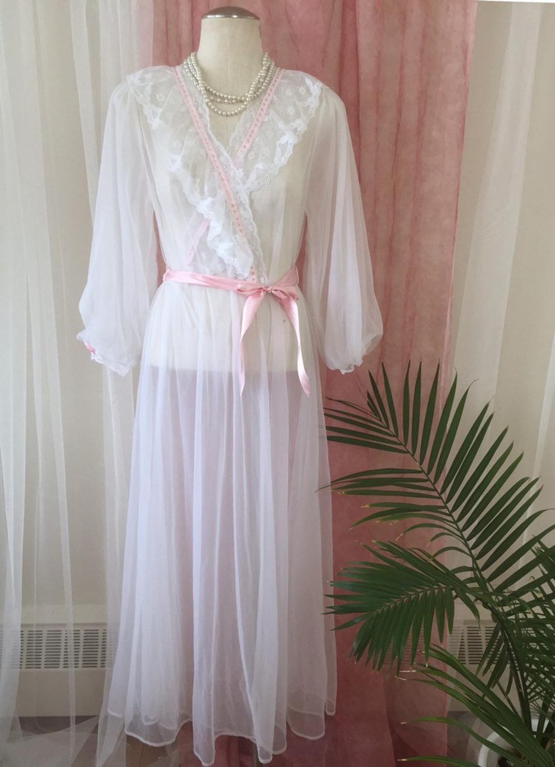 PIN UP nylon robe kimono peignoir