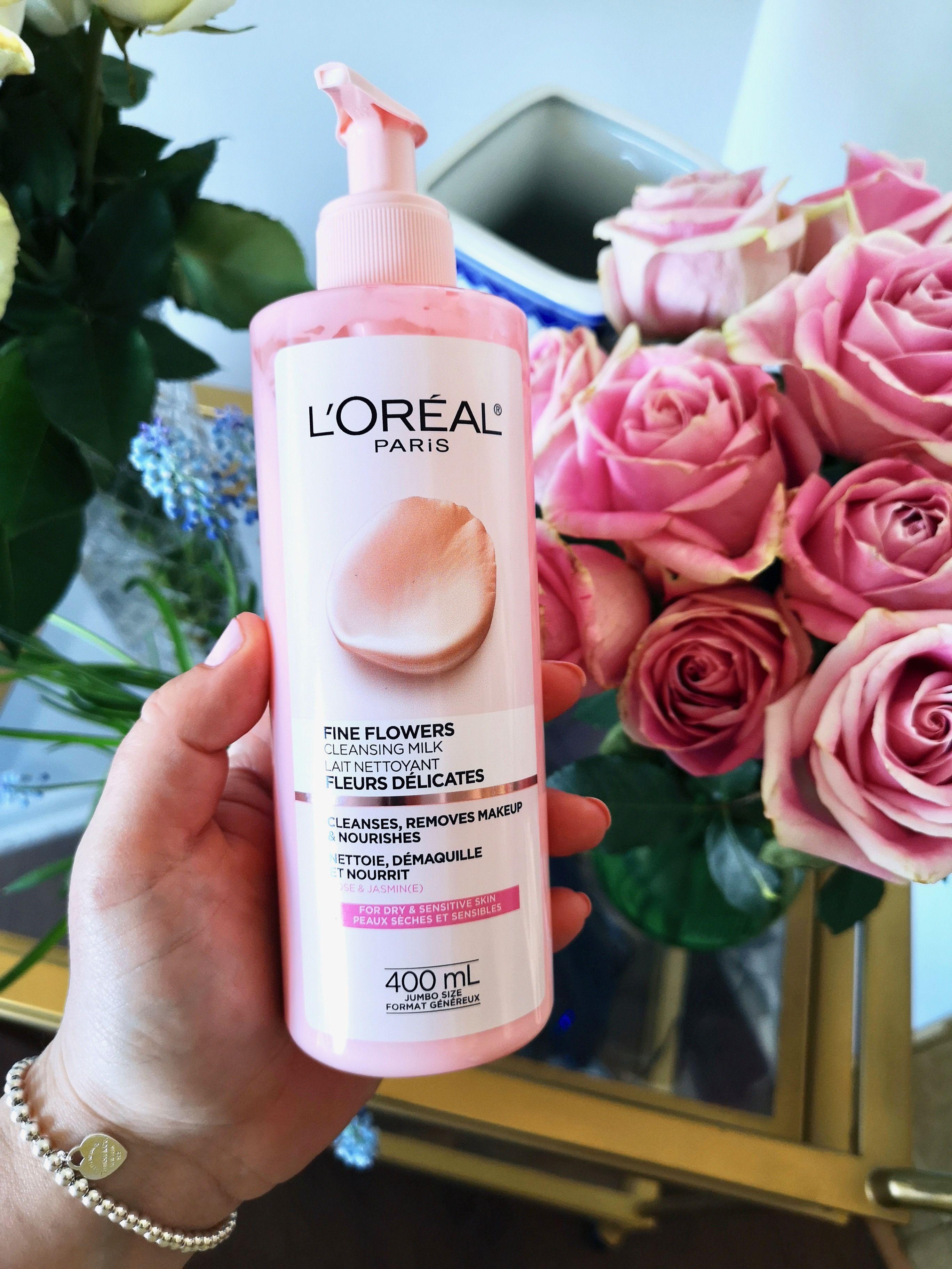 L'ORÉAL Fine flowers cleansing milk for dry, sensitive