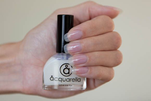 Acquarella conditioner is like a super strong clear nail polish. I ...